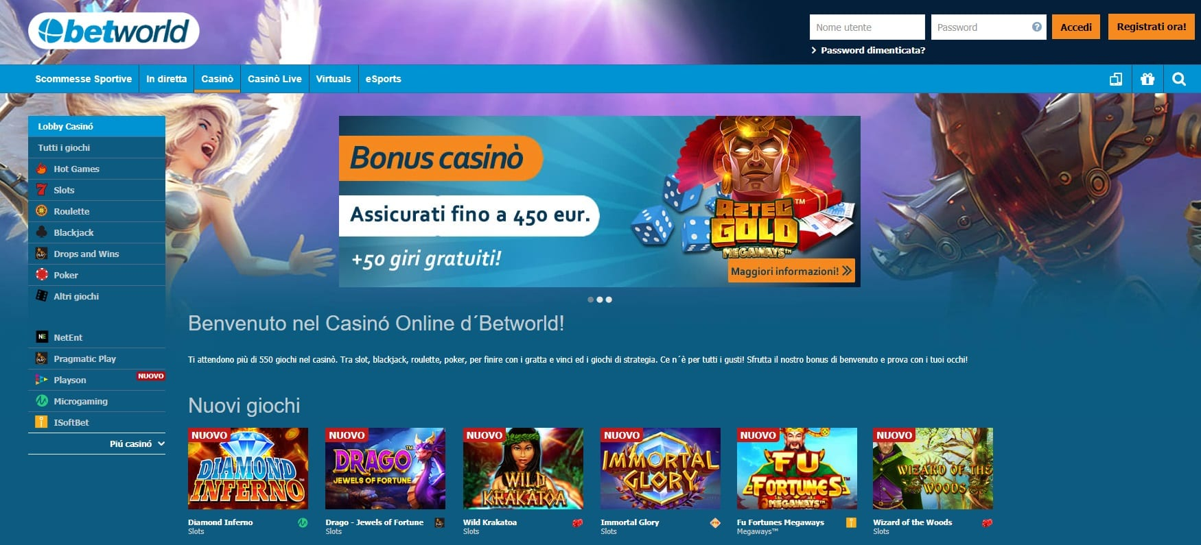 betworld sport e casino