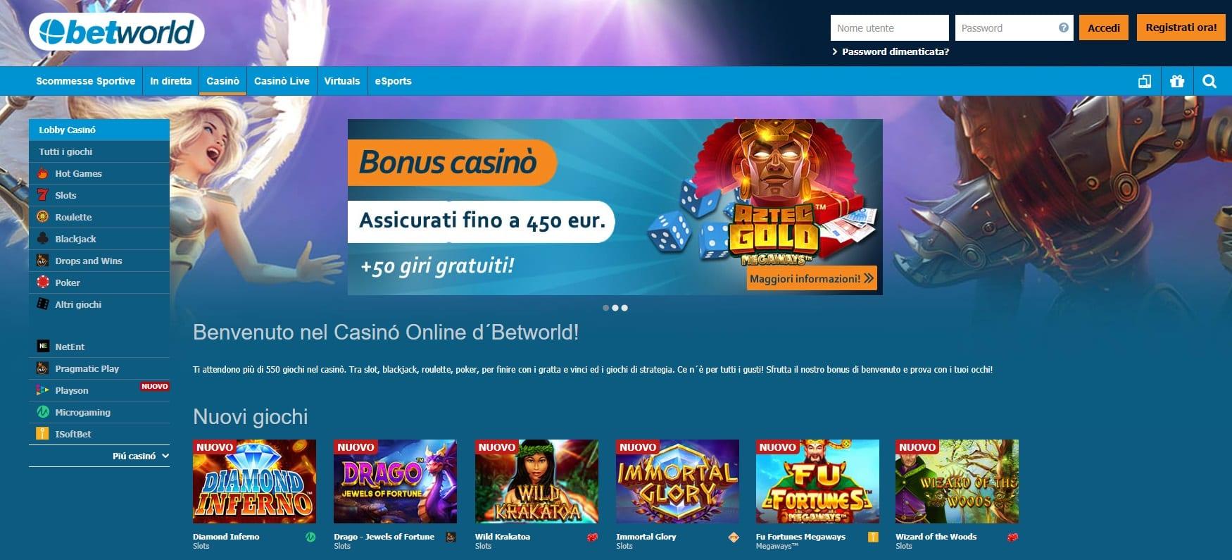 betworld sport e casino