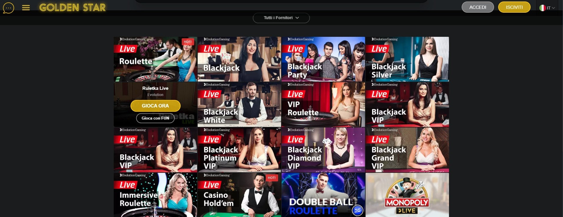 Casino Live GoldenStar