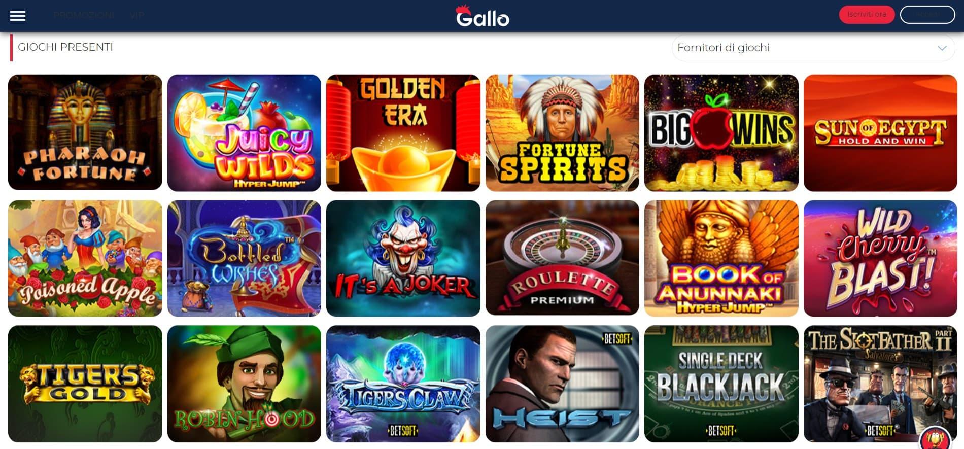 Gallo Casino Games