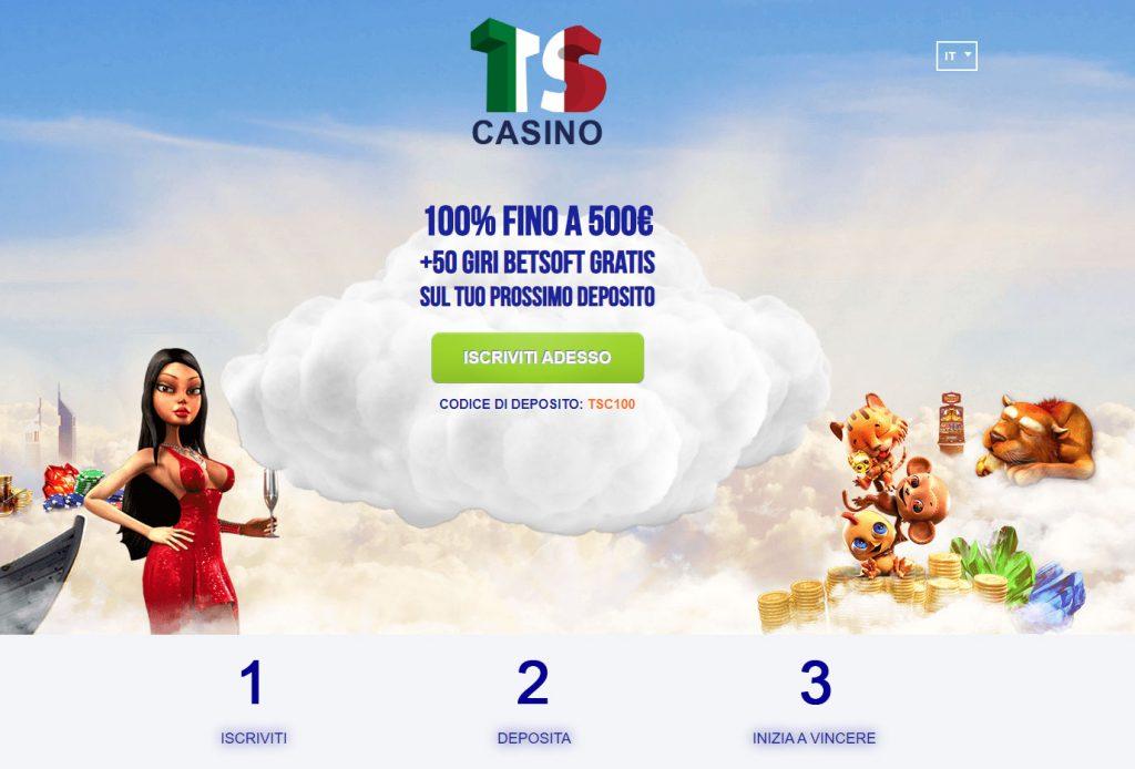 TS Casino bonus esclusivo
