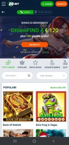 20bet Casino mobile
