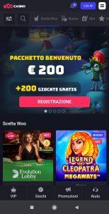 Woo Casino mobile