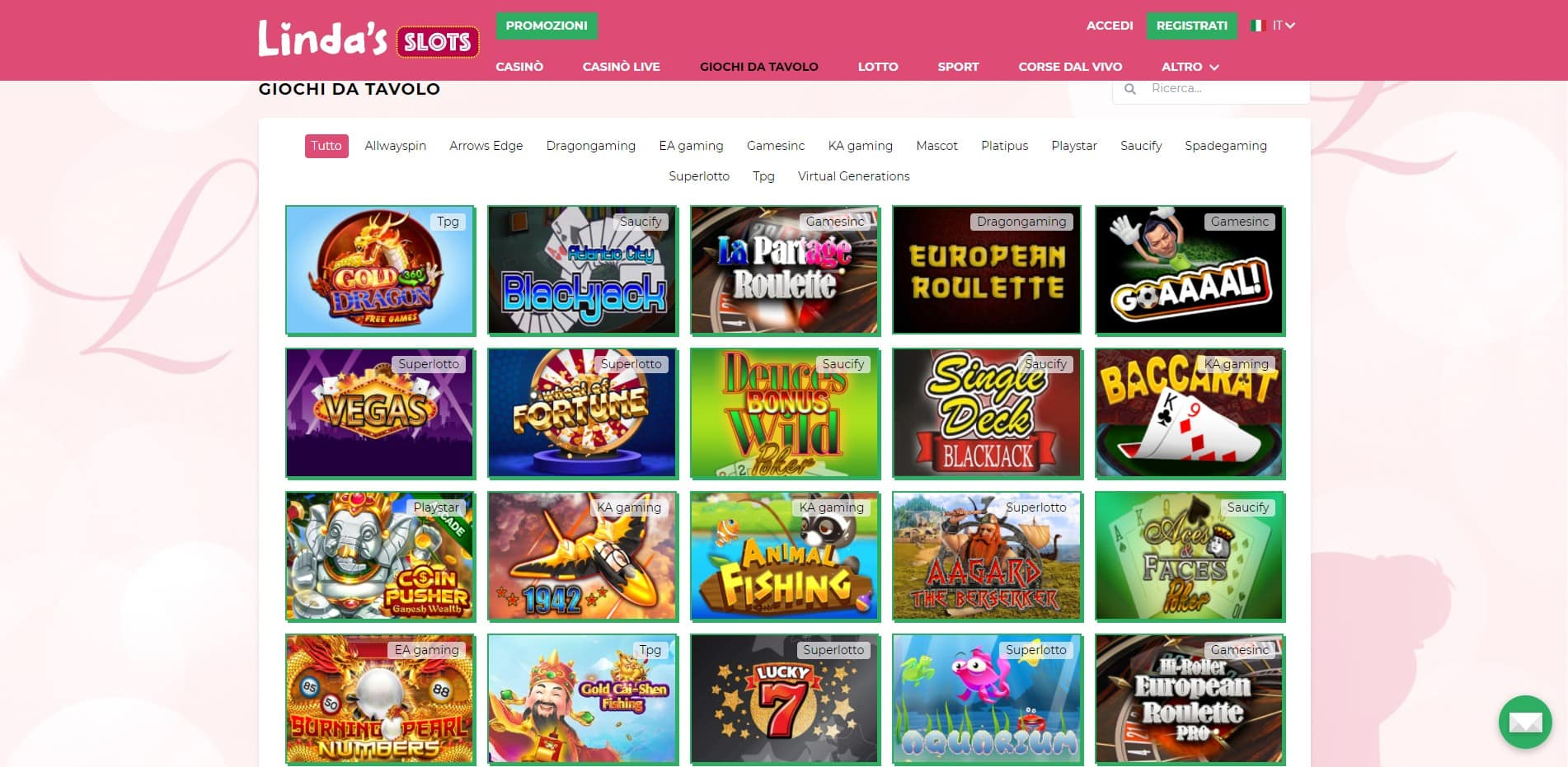 Giochi di Linda's Slots Casino